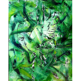 "Bild ""Abstract Green Bird"""